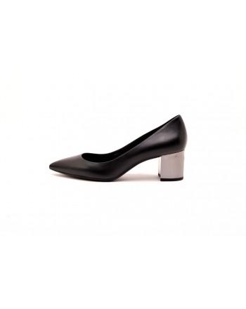 MICHAEL BY MICHAEL KORS -  Metallic Heels Decollété  - Black