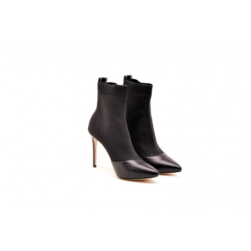 MICHAEL BY MICHAEL KORS - Elastic Sock VICKY Boots with Logo  - Nero