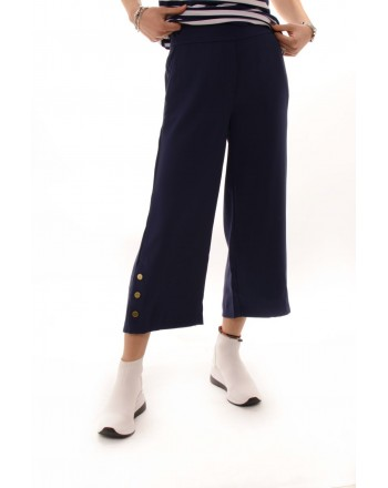 MICHAEL BY MICHAEL KORS - Pantalone Cropped corto con bottoni dorati - True Navy