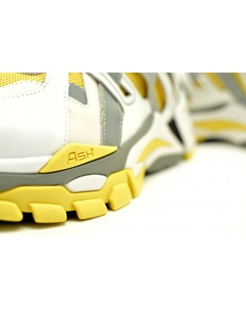ASH -  FLASH Sneakers - White/Yellow/Sliver