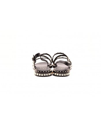 ASH -  PEACE sandal in leather with studs - Black