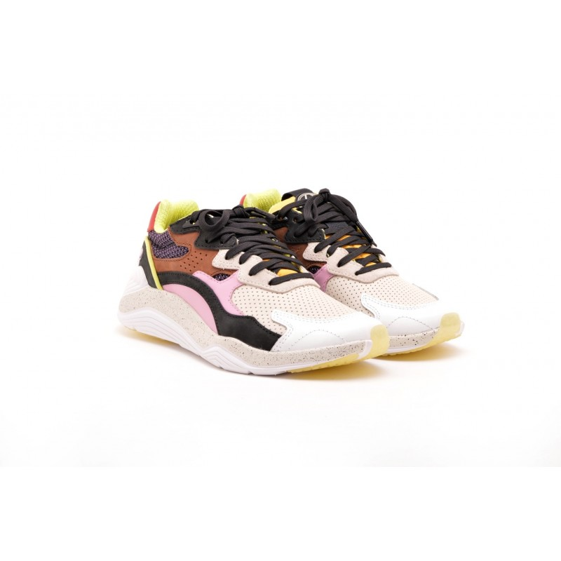 MCQ BY ALEXANDER MCQUEEN - Sneakers in suede e nylon - Multi/Pink/Purple