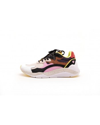 MCQ BY ALEXANDER MCQUEEN -  Suede and nylon sneakers - Multi/Pink/Purple