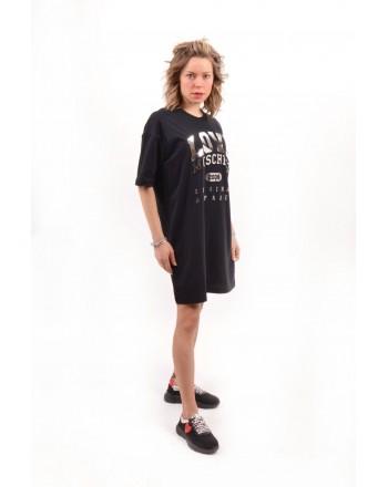 LOVE MOSCHINO -  Cotton dress with print - Black