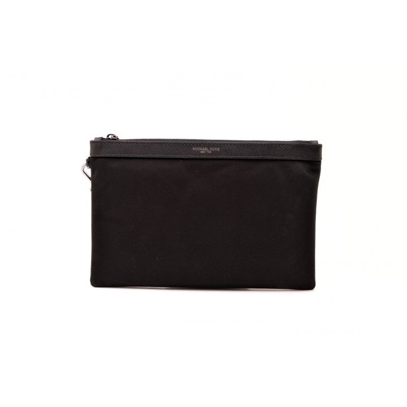 ec512b88d633 MICHAEL BY MICHAEL KORS - Leather document holder with zip - Black ...