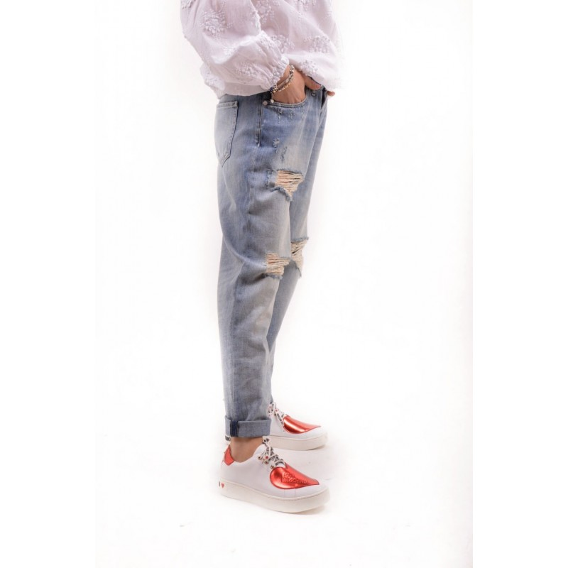 LOVE MOSCHINO - Jeans Used in Denim - Denim