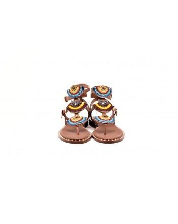 ASH - Sandalo in pelle con Borchie e Perline - Brasil Cuoio