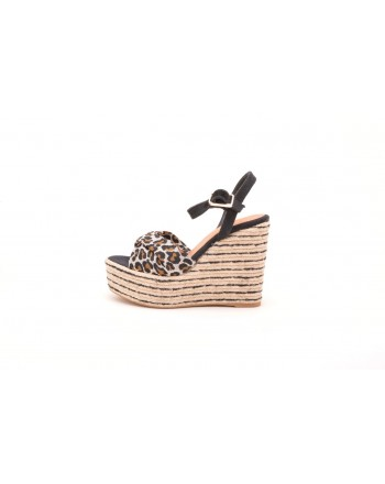 CASTANER -  Espadrille with wedge 14 cm - Black