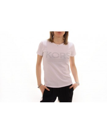 MICHAEL BY MICHAEL KORS -  Cotton T-Shirt with strass - White
