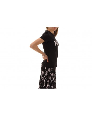 MICHAEL BY MICHAEL KORS - T-Shirt in cotone con strass - Black/Silver