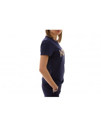 MICHAEL BY MICHAEL KORS -  Cotton T-Shirt with strass  -  True Navy