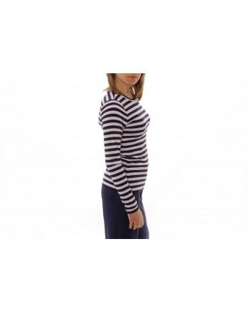 MICHAEL BY MICHAEL KORS -  Striped cotton T-shirt - Navy/White
