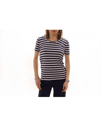 MICHAEL BY MICHAEL KORS - Striped cotton T-shirt - Navy/White