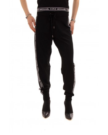 MICHAEL BY MICHAEL KORS -  Jogger trousers with contrasting logo print - Black/White