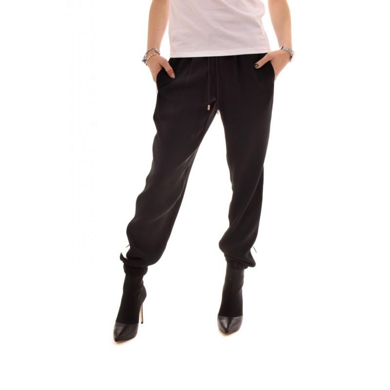 MICHAEL BY MICHAEL KORS - Pantalone Joggers con righe a contrasto - Nero/Bianco
