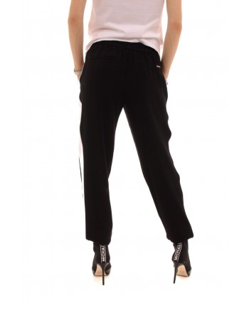 MICHAEL BY MICHAEL KORS -  Joggers trousers with contrasting stripes - Black/White