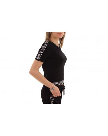 MICHAEL BY MICHAEL KORS -  Viscose T-Shirt with logo print - Black/White