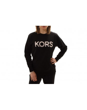 MICHAEL BY MICHAEL KORS -  Cotton sweatshirt with studs - Black/Silver