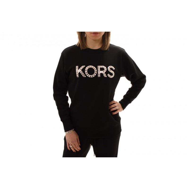 MICHAEL BY MICHAEL KORS -  Cotton sweatshirt with studs - Black/Silver