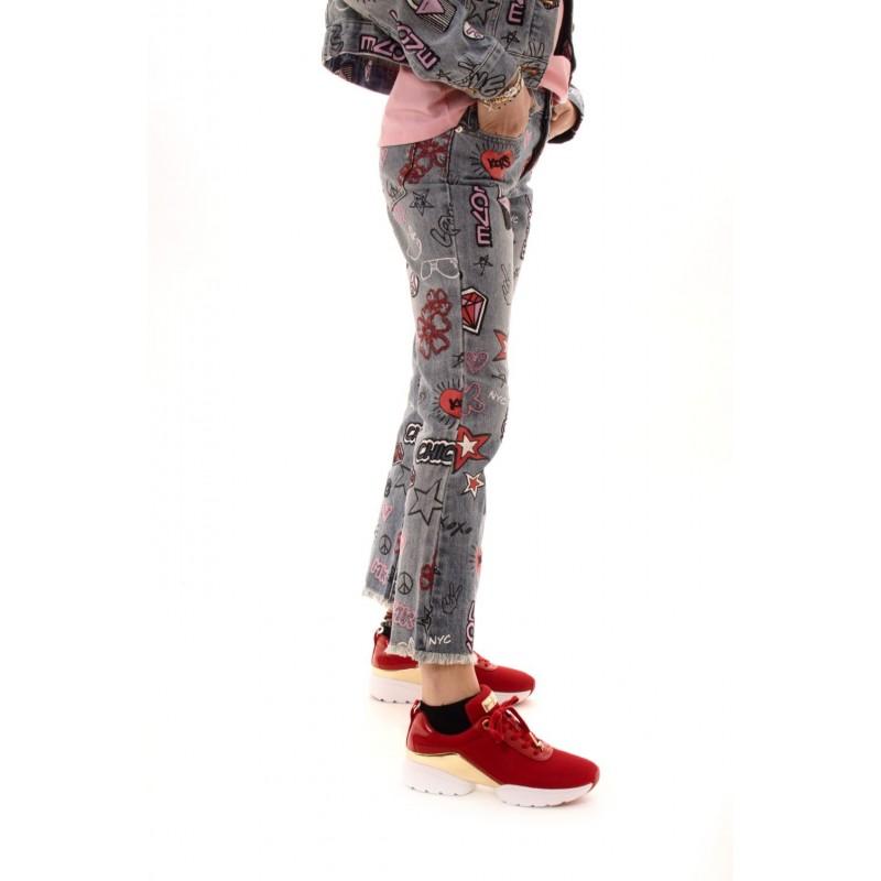 MICHAEL BY MICHAEL KORS - Jeans corti con ricami - Denim