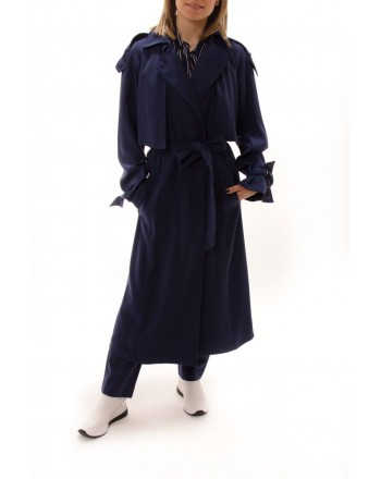 MICHAEL BY MICHAEL KORS -  Draped trench coat - Navy