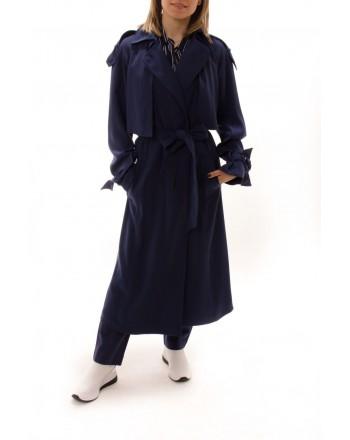 MICHAEL BY MICHAEL KORS -  Draped trench coat - Navy