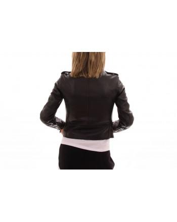 MICHAEL BY MICHAEL KORS -  Leather motorcycle jacket- Black