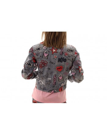 MICHAEL BY MICHAEL KORS -  Denim jacket with embroidery and patches - Light Vintage Wash