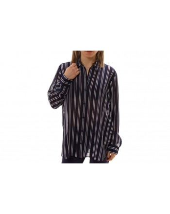 MICHAEL BY MICHAEL KORS -  Stripes Printed Shirt - True Navy/White