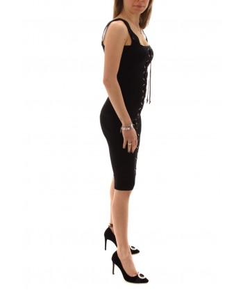 MICHAEL BY MICHAEL KORS - Viscose Dress with Laces - Black