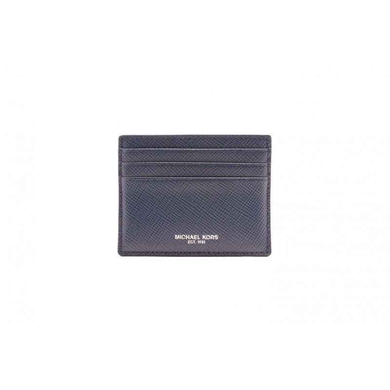 MICHAEL BY MICHAEL KORS - Leather credit card holder - Navy