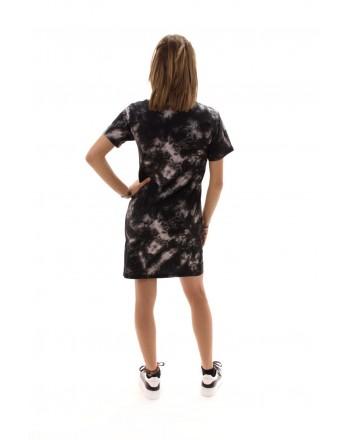 PHILIPP PLEIN - Cotton Dress  BAD HABITS Print - Black