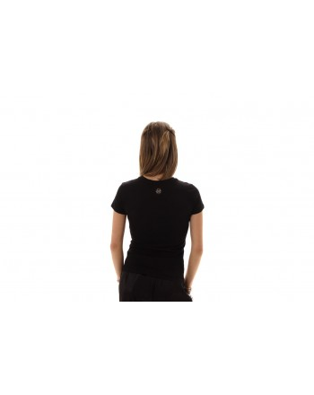 PHILIPP PLEIN - Cotton T-Shirt in Cotone with Rhinestones - Black