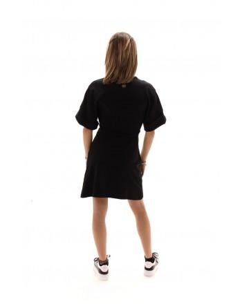 PHILIPP PLEIN - Cotton Dress  LOVE THAT HURTS  - Black