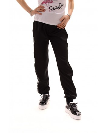 PHILIPP PLEIN - Jogging Pants with Side Logo Band - Black