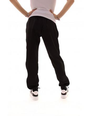PHILIPP PLEIN - Jogging Pants with Side Logo Band - Black