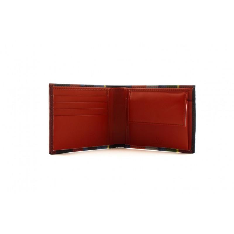 GALLO - Portafoglio in pelle - Oltremare/Rosso