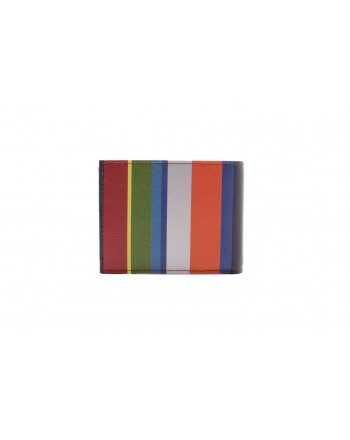 GALLO - Leather Wallet - Blue/Red
