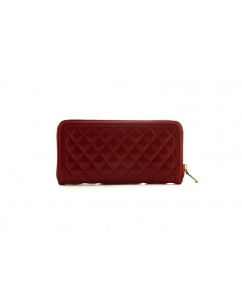 LOVE MOSCHINO - Portafoglio zip-around in eco pelle con Logo- Rosso