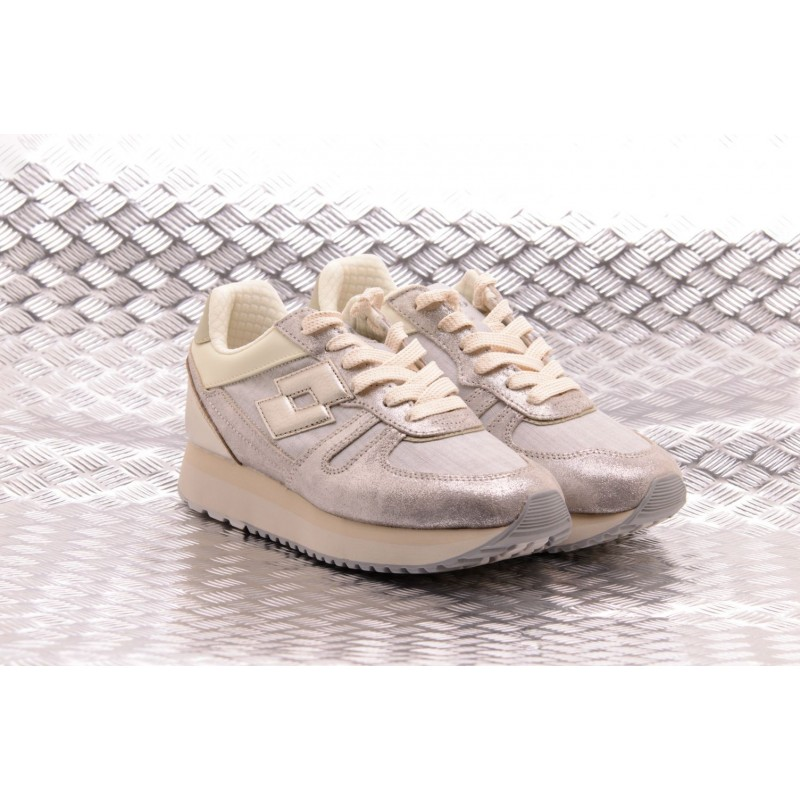 LOTTO LEGGENDA - Sneakers SLICE CORDA - Gray/Golden