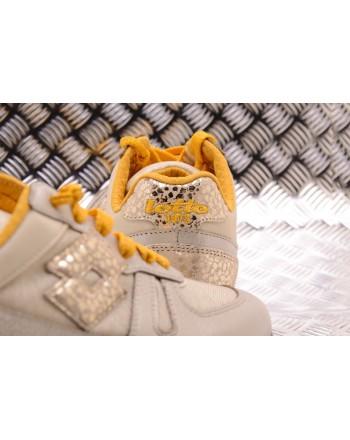 LOTTO LEGGENDA - Sneakers TOKYO WEDGE METAL Angora White/Gold