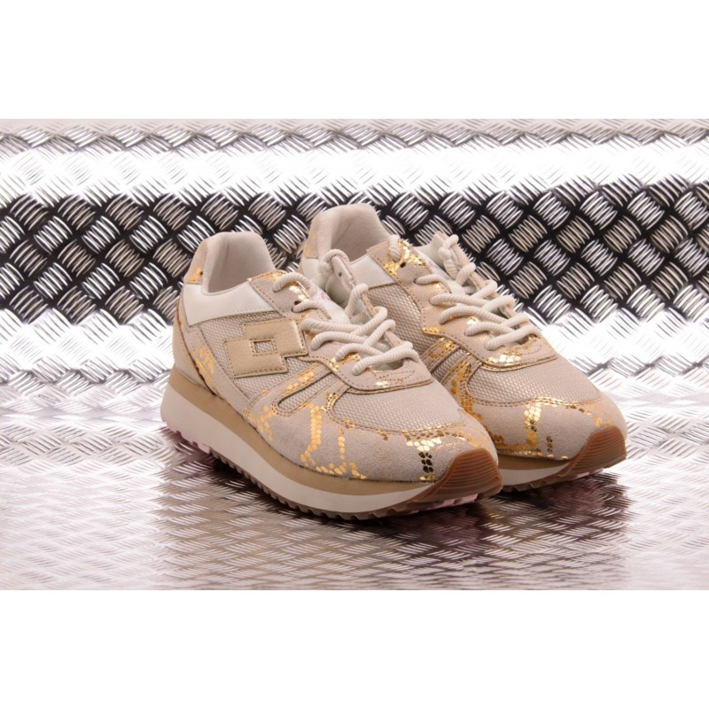 LOTTO LEGGENDA - Sneakers TOKYO WEDGE CRACK - Angora White/Light
