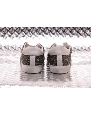 2 STAR - Sneakers Low con Glitter  - Blu/Bianco