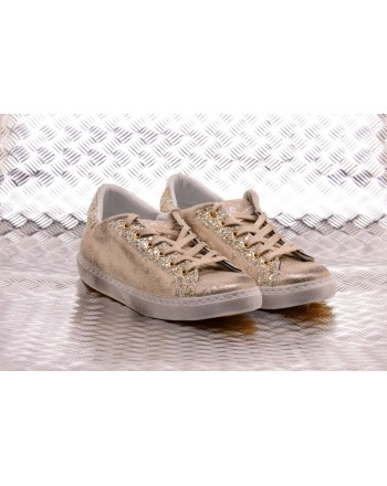2 STAR - Golden Low Sneakers - Platinum