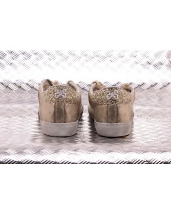 2 STAR - Golden Low Sneakers - Platinum