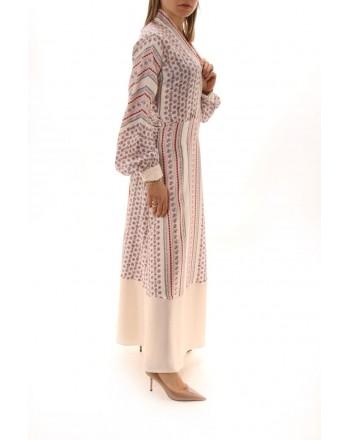 PHILOSOPHY di LORENZO SERAFINI  - V Neckline Long Dress - Multicolour