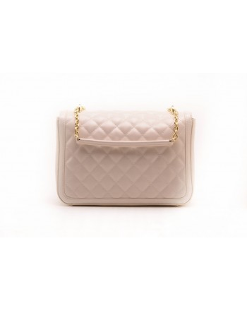 LOVE MOSCHINO -  Quilted Faux-leather bag  - Ivory