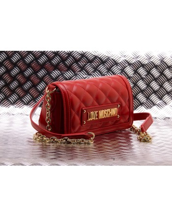 LOVE MOSCHINO -  Faux-leather bag - Red
