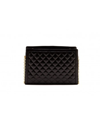 LOVE MOSCHINO -  Quilted Faux-leather bag - Black