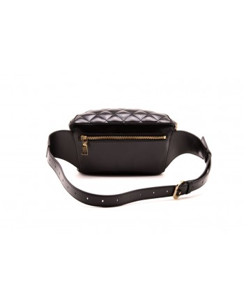 LOVE MOSCHINO -  Quilted faux leather pouch - Black